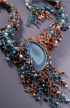 #beadwork #freeform free form jewelry