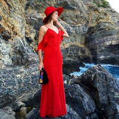 Another stunning photo of @evarivier in our #AW15 #Cora maxi dress in red ❤ We simply cannot get enough!