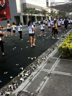 IRONY: Earth day marathon.