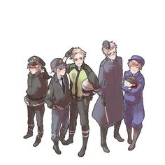 Hetalia - Iceland, Norway, Denmark, Sweden, and Finland : Nordics Police