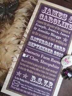 English Eccentrics Wedding Stationery http://knotsandkisses.co.uk Purple Wedding Ideas and Inspirations. Purple Weddings