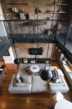 n industrial loft design was meant for an artist and it combines the best of both worlds. This industrial interior loft is a wonde Industrial Style Floor Lamp, Industrial Interior Design, Industrial Interiors, Industrial House, Home Interior Design, Industrial Chic, Industrial Loft Apartment, Industrial Furniture, Loft Furniture