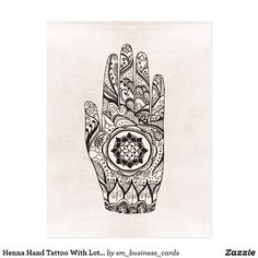 Henna Hand Tattoo With Lotus Flower