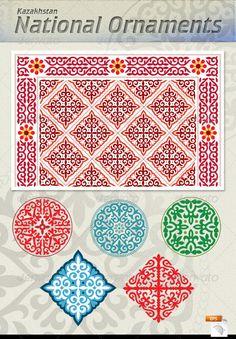 Asia - Kazakhstan, national ornaments