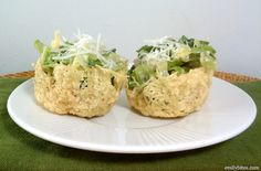 Elegant, delicious and only 47 calories each: Caesar Salad Parmesan ...