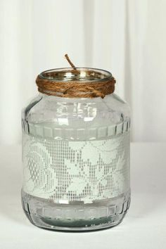 eskuvoi-gyertyatarto-04 Mason Jar Lamp, Table Lamp, Vintage, Home Decor, Table Lamps, Decoration Home, Room Decor, Vintage Comics, Home Interior Design