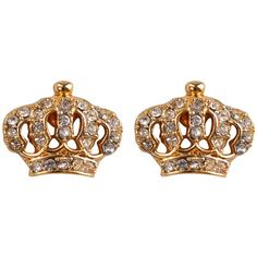Juicy Couture Crown Earrings ($50) ❤ liked on Polyvore featuring jewelry, earrings, accessories, brincos, gold, juicy couture jewelry, gold tone jewelry, crown earrings, drusy jewelry and earrings jewelry