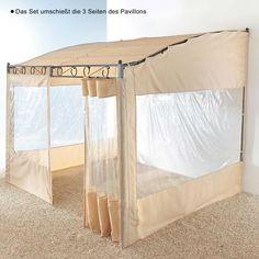 Seitenwände Pavillon, Wave, 2-tlg., Polyester Katalogbild