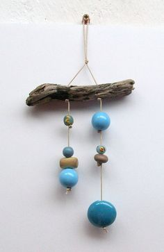 Sky Blue bead mobile by LylaKaiCollection on Etsy, €5.50 She cute jewelry and little bobbles for those who like to hang decorations from their rearview mirrors.
