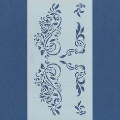 Plantillas stencil SILU corte láser máxima precisión para estarcido sobre cualquier superficie, motivo ornamental, para decorar esquinas de cajas, mesas o muebles