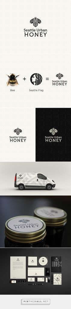 Seattle Urban Honey Brand Identity on Behance... - a grouped images picture - Pin Them All