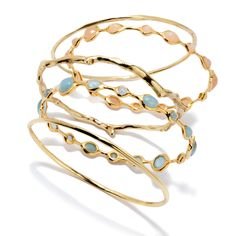 Ippolita 18-karat gold bangle set: $6,595; ippolita.com