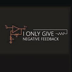 I only give negative feedback
