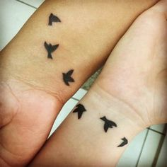 Mother Daughter Matching Swallow Tattoos