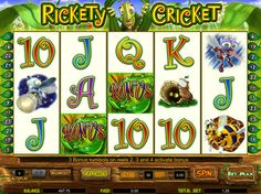 Rickety Cricket - http://freeslots77.com/rickety-cricket/ - By listening to the term cricket, do not get confused with the cricket game. The free Rickety Cricket online slot describes how insects can live a happy life. This no download slot from Cryptologic comprises of 5 reels and 25 paylines. Winning combos made with symbols like a queen bee, mosquito,...