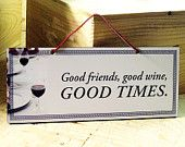 Decorative Wall Sign with Wine Saying in Black, White and Red. Wine Sign. Kitchen Sign. Classic. Winter Trends. Ready to ship.