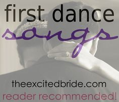 First dance songs.