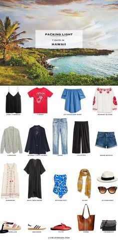 What to Pack for Hawaii Packing Light List #packinglist #packinglight #travellight #travel #andotherstories #capsule #capsulewardrobe #livelovesara