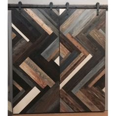 Herringbone Design Sliding Barn Door by Rustic Luxe Barn Door Designs, Rustic Luxe, Style Deco, Barn Door Hardware, Door Hinges, Interior Barn Doors, Custom Wood, Wood Doors, Timber Door