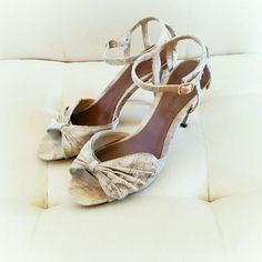 """NWOB Ann Marino heels * Final Price * No Trades *   Beautiful 3.5"""" heels from Ann Marino.  Faux snakeskin print with a caged back and ankle closure.  Never worn, please see picture #4. Excellent condition.  {15% off bundles of 2 + listings} Ann Marino Shoes Heels"""