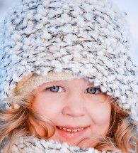 I look my Infinity Scarf and used it to give the Eskimo look for my daughters close up