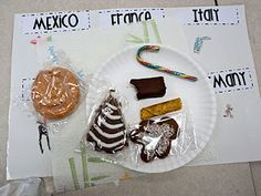 Christmas Around the World treats  A lovely way to teach about similarities and differences between cultures. Although there is much more to cultural studies than food, we must admit that people bond over food.