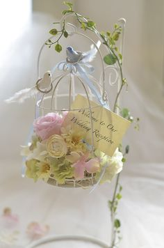Birdcage Ring Bearer Wedding Ring Pillow & Birdcage by FinoJapan Wedding Wishes, Diy Wedding, Rustic Wedding, Wedding Gifts, Wedding Flowers, Ring Holder Wedding, Ring Pillow Wedding, Bird Cage Stand, Ring Pillows