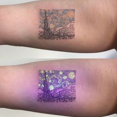 uv tattoo stick and poke ; uv tattoo before and after ; Uv Tattoo, Piercing Tattoo, Glow Tattoo, Light Tattoo, Tattoo Blog, Tattoo Stars, Creative Tattoos, Great Tattoos, Unique Tattoos