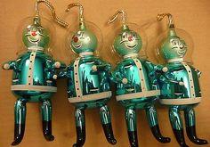 1950 -60's Italian Glass Ornaments.