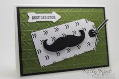 Masculine Mayhem - Mustache Arrow Tag.  Best Dad Ever. Kelly Kent - mypapercraftjourney.com.