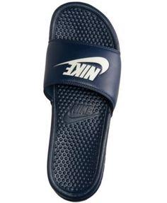 16789f8a9dd Nike Men s Benassi Jdi Slide Sandals from Finish Line - Blue 12 Nike  Benassi
