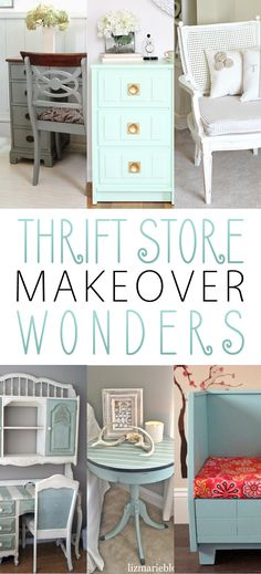 If you love a great Thrift Store Makeover...you are going to love this collection of makeovers! Each one is special and filled with Ideas and Inspiration!!