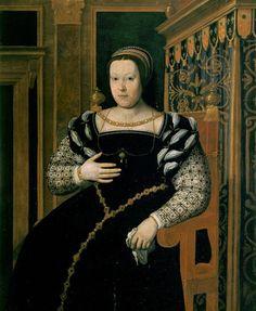 CATHERINE DE MEDICI queen of France PROVENANCE Tito di Santi, ca 1550 - 1600, Uffizi Gallery photo RMN