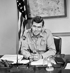 Sheriff Andy Taylor in his office