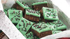 Layered Mint-Chocolate Fudge