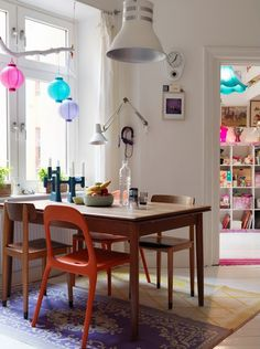 Blog de Damask et Dentelle Scandinavian decor inspiration Archives » Boho eclectic kitchen table