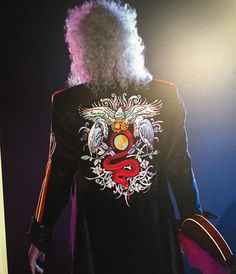 Stunning shot of Brian May in the Olympic outfit via @QueenieOfNorway