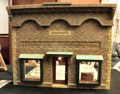 The brick work on this miniature store front is absolutely amazing...