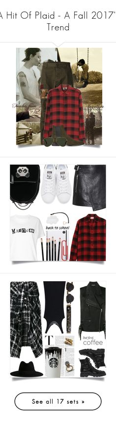 """""""A Hit Of Plaid - A Fall 2017's Trend"""" by tina-abbara ❤ liked on Polyvore featuring plaid, womenfashion, tartan, menfashion, fall2017, Ryder, Dsquared2, Yves Saint Laurent, Oliver Goldsmith and men's fashion"""