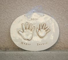 Personalized Child's Print - Handprint of Siblings Memento - Hand Print Art  - Gift For Mom - Child Keepsake - Personalized Art For Mom