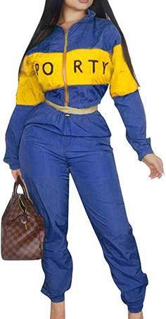 9ba5e8d5509c  SOMTHRON Women s Oversize Graphic Sports Sweatsuit Sets 2 Piece Elastic  Waist Striped Cropped Top Pants