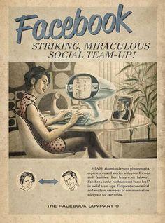 Vintage-Style Social Media Poster #advertising #marketing #design #facebook #socialmedia #vintagestyle #typography
