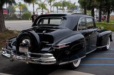 1947 Lincoln Continental with a continental kit spare tire mount.I guess that makes that this one a double continental ?
