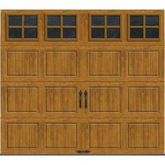 Clopay Gallery Collection 8 ft. x 7 ft. 6.5 R-Value Insulated Ultra-Grain Medium Garage Door with SQ22 Window-GR1SP_MO_SQ22 at The Home Depot