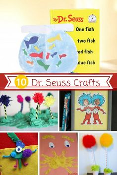Looking for some fun Dr. Seuss crafts for your kids? These creative crafts will help you create some fun based on this author's creative stories!