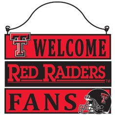 Texas Tech Welcome Sign