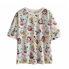 Ali, Mickey Mouse, Floral Tops, Blouse, Disney, Women, Fashion, Donald Duck, Short Sleeve Hoodie