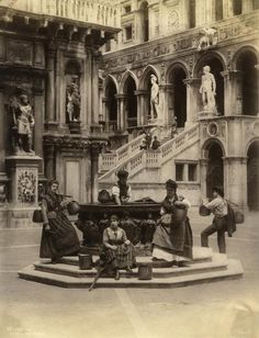 Well at the Doges Palace, Venice by Carlo Naya