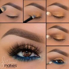 Makeup Geek Kaleidoscope Smokey Eye Makeup Tutorial step by step - . - Makeup Geek Kaleidoscope Smokey Eye Makeup Tutorial step by step - Makeup Eye Looks, Eye Makeup Steps, Smokey Eye Makeup Tutorial, Blue Eye Makeup, Makeup For Brown Eyes, Skin Makeup, Eyeshadow Makeup, Green Makeup, Highlighter Makeup