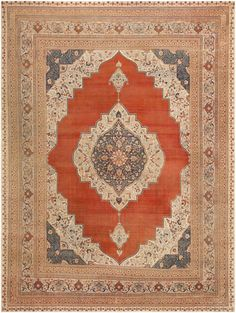 Antique Tabriz Rug, Persia, Late 19th Century 9 ft 7 in x 12 ft 9 in (2.92 m x 3.89 m)